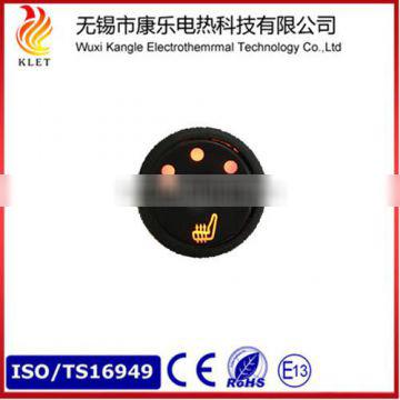12V Universal Car Seat Heater with 3-position Round Button Switch