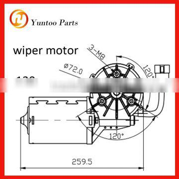 Low noise output, and long life spancoach, bus and truck Wiper motor 120w