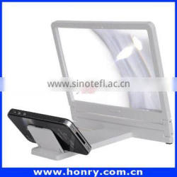 smartphone enlarge stand, mobile phone screen magnifier,3D movie amplifier