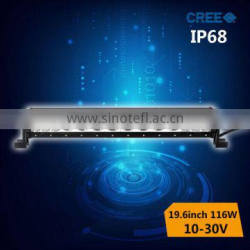 NEWEST!!116w ip68 car led driving light bar for truck jeep