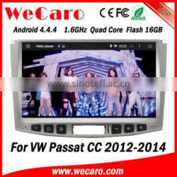 Wecaro WC-VU1011 Android 4.4.4 car stereo 1024 * 600 for vw passat cc navigation system android bluetooth 2012 2013 2014