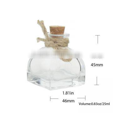 25ml Clear Glass Wishing/Drift Bottles With Cork Stoppers