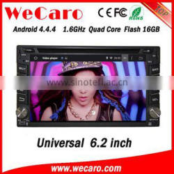 "Wecaro 6.2"" WC-2U6400 Android 4.4.4 car multimedia system touch screen in dash car dvd player WIFI 3G 1080p"