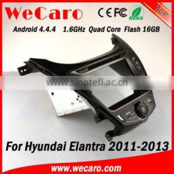 Wecaro WC-HU8028 Android 4.4.4 multimedia system touch screen navigation system for hyundai elantra WIFI 3G mirror link