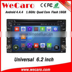 "Wecaro 6.2"" WC-2U6400 Android 4.4.4 car multimedia system double din touch screen car dvd player audio system GPS"