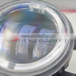 2PCS high power 4 inch LED fog light with halo angel eye ring 4'' 30W LED fog light with angel eyes