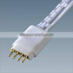 RoHs passed 5050 RGB LED Strip 4 Pin Extension Wire Cable Cord With 2 End Clip Quick Connector