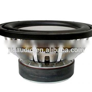 HOT SALE 10/12/15 inch Loud Car Subwoofer with Silver Aluminum Frame