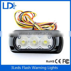 New arrival LED strobe light hid driving light 12v 3 leds flashing car roof light