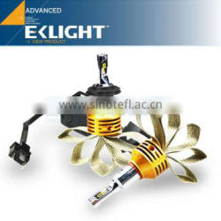 EKLIGHT H4 H7 H11 9006 models 2800LM super bright fanless car led headlight in perfect output light beam