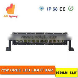Wholesale 72W led light bar 13 inch led bar light offroad 6500k 12V led lighting