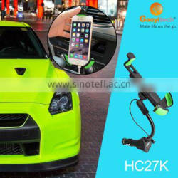 Car holder with FM transmitter with 3.1A current Car charger play music car holder