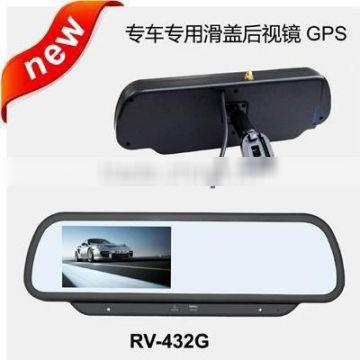 4.3 inch original rear view mirror monitor special rear view mirror with GPS