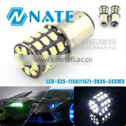Auto accessories led 1156 car led light s25 1156(1157) 2835 33smd turn light and stop light