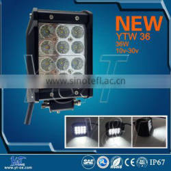 "Y&T YTLB36J Factory Price!!36W 4"" Quad Row LED Light Bar 4 Work Lamp Spot Offroad Mining Truck,Wholesale led car lights"