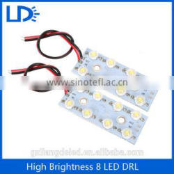 Hotsale 8 leds work light led drl 12V led daytime running drl
