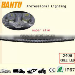 new design super slim light bar curved led light bar 240w led light bar