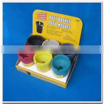 Hot selling colorful plastic butt bucket
