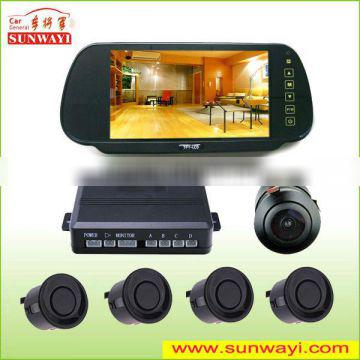 rear view mirror dispaly and hot sell LCD parking sensor system