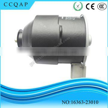 High performance cheaper price auto engine electric denso parts 12v dc cooling fan motor 16363-23010 for Toyota