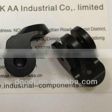 black anodized small aluminum machine parts