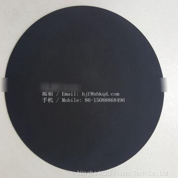 0.6mm Black Hypalon Coated Polyester Fabric for Tactical Vest