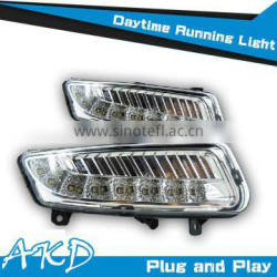 AKD Car Styling for VW Polo DRL 2009-2012 Polo LED DRL Signal LED Daytime Running Light Good Quality LED Fog lamp