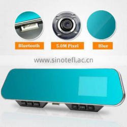 4.3 Inch LCD 1080P Full HD 5.0M Pixel 140 Degree Wide Angle Bluetooth Anti-glare Rearview Mirror Auto DVR Camera