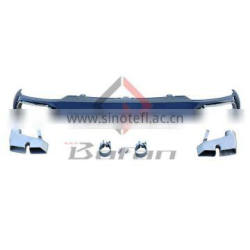 2012+ A6 Rear diffuser ,W12 Style A8 For Audi A6 Standard Bumper With Quad Exhaust