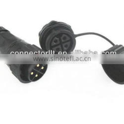 female panel rear mouting waterproof 4 pin connector