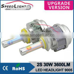 Speedlight New Version 30W 3600LM 2S LED Headlight LED Lamp For Car