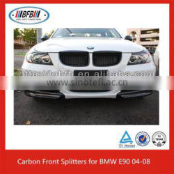 Carbon Fiber Front Splitter Bumper Lips Fit For 04-08 Bmw E90