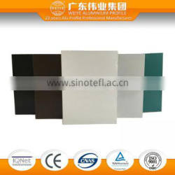 Aluminum anodized powder coating extrusion profiles for doors and window 2016 newest surface treatment
