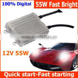 1 second cold start Fast start Xenon ignition units blocks ignition Fast bright HID Ballast 55W for 12V cars