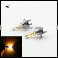 Yellow H7 Halogen Bulb 12V 55W 3000K Quartz Glass Xenon Car HeadLight Auto Lamp