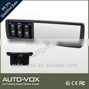 "4.3""TFT LCD rear view mirror car gps with dvr, bluetooth reversing camera"