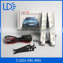 How power led car lighting 5 leds White Daytime Running Light