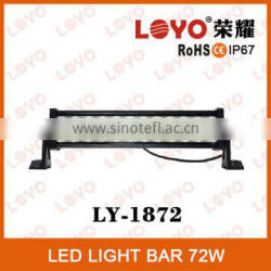 LOYO NEW Epsitar Offroad Car led work light bar, 72W Led light bar 13.5''