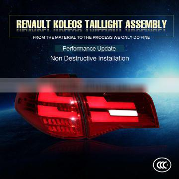 Factory Directly 12V CCC Certification Red Black style and LED Lamp Type Tail light assembly fit in 11-14year Renault Koleo Cars