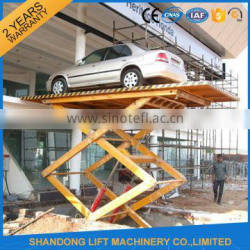 Electric In-ground stationary scissor lift elevator