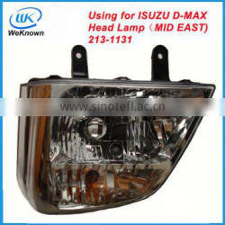 Pickup parts head lamp using for Isuzu D-MAX series (Mid East)