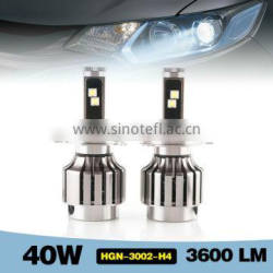 H4 6000-7000K 2880LM high beam/low beam professional car led headlight 30w