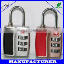 Good price lock top security zinc alloy tsa steel cable lock tsa combination padlock