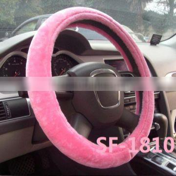 NEW design with pink car steering wheel covers sale from manufacture