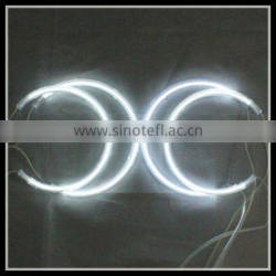 white 7000k led angel eyes healight halo ring ccfl angel eyes e46 with non projector 131mm 146mm ccfl ring angel eyes for bmw