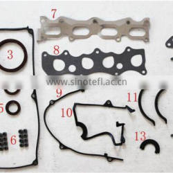 B3 16V Engine Overhaul Gasket Set Auto Car Parts With Cylinder Head Gasket With Rubber Gasket 8CB6-10-271 50128000