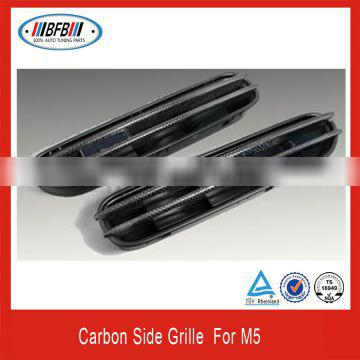 AUTO SIDE VENT FENDER GRILLES CARBON FIBER SIDE GRILLS FOR E60 M5