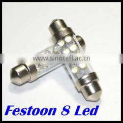 LED festoon 8 SMD led 36mm/39mm/41mm car led light for dome light,indication light,reading light