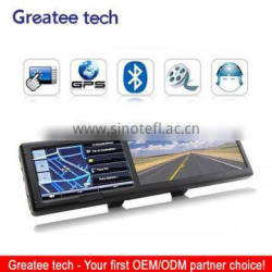 4.3 inch rearview mirror gps navigator system free map bluetooth avin