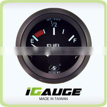 Taiwan high quality 52mm Electrical Gauge for car, black Fuel Level Gauge